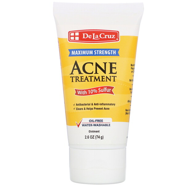 Ointment, Acne Treatment with 10% Sulfur, Maximum Strength, 2.6 oz (74 g)