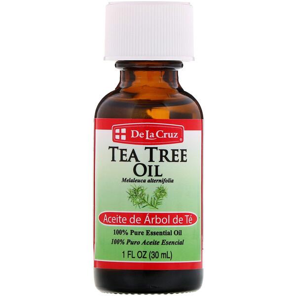 Масло чайного дерева, 100% чистое эфирное масло, 1 ж. унц. (30 мл)