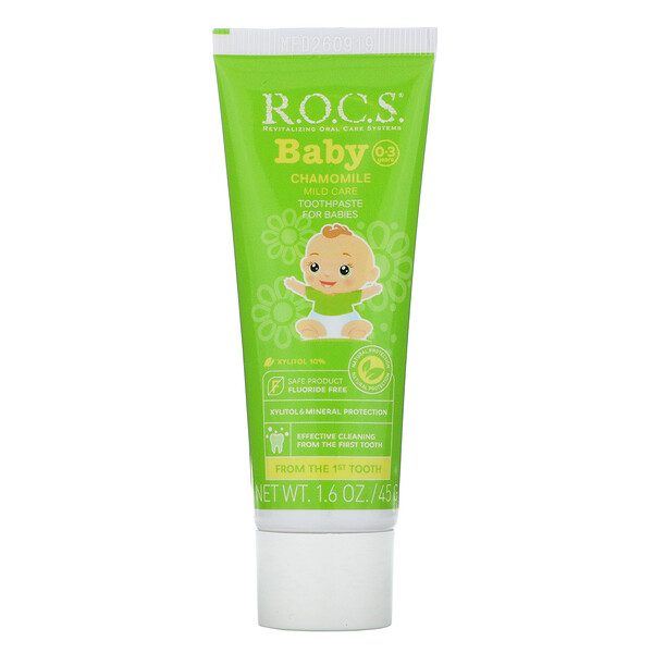 R.O.C.S., Baby, зубная паста с ромашкой, для детей 0‒3лет, 45г (1,6унции)