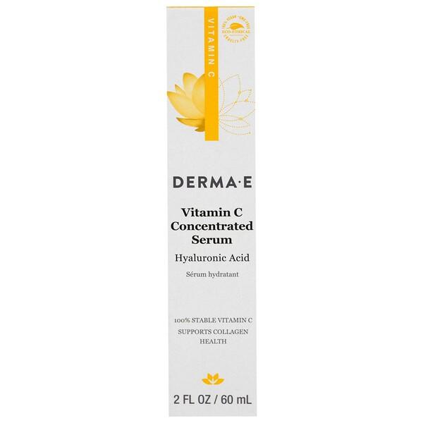 Derma E, Концентрированная сыворотка с витамином С, с гиалуроновой кислотой