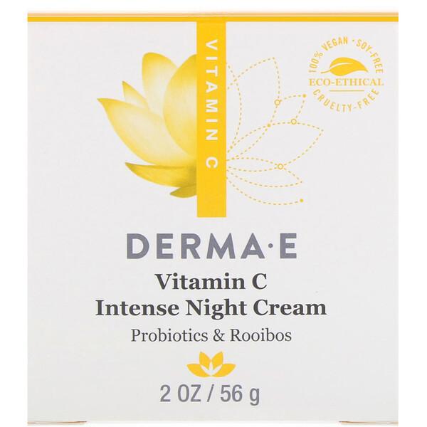 Интенсивный ночной крем с витамином C, с пробиотиками и чаем ройбуш