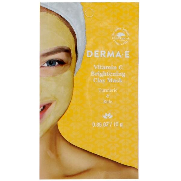 Derma E, Усиливающая сияние маска с глиной и витамином С, Куркума и кале, 0,35 унц. (10 г)