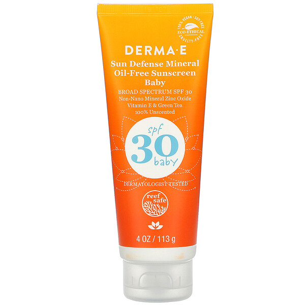 Baby, Sun Defense Mineral Oil-Free Sunscreen, SPF 30, 4 oz (113 g)