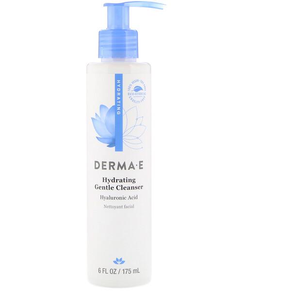Derma E, Мягкое увлажняющее средство для очищения кожи с гиалуроновой кислотой, 175мл (6жидк.унций)