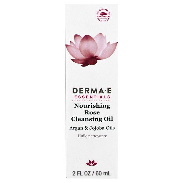 Derma E, Питающее и очищающее розовое масло, с маслами арганы и жожоба (Discontinued Item)