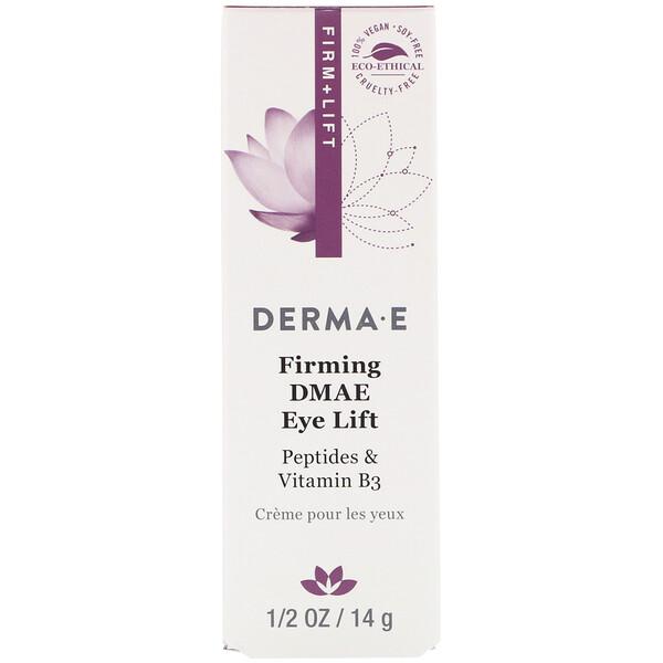 Derma E, Закрепляющая подтяжка век с ДМАЭ, 14 г (1/2 унции)