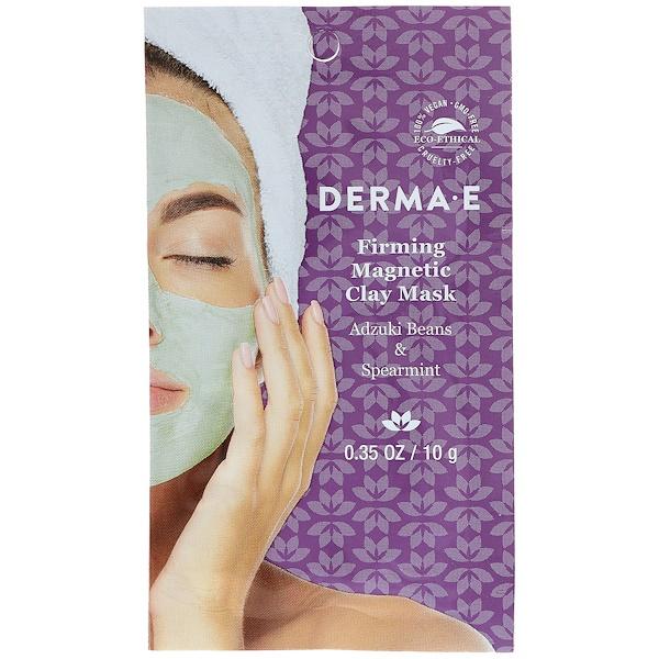 Derma E, Укрепляющая магнитная маска с глиной, Бобы адзуки и мята перечная, 0,35 унции ( 10 г)