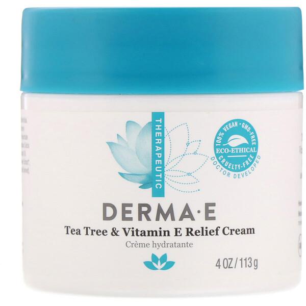 Успокаивающий крем с маслом чайного дерева и витамином Е, 113 г (4 унции)