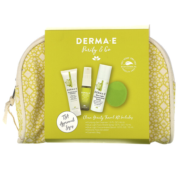 Purify & Go, Clean Beauty Travel Kit, 5 Piece Kit
