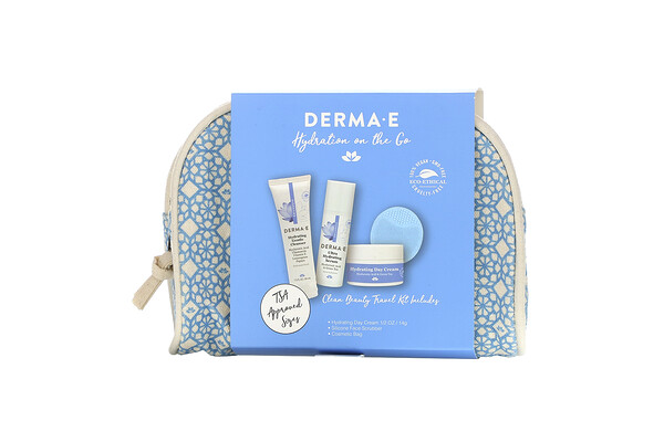Derma E, Hydrating on the Go, Clean Beauty Travel Kit, 5 Piece Kit