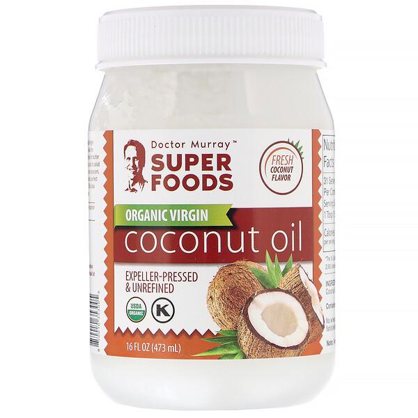Dr. Murray's, Органическое кокосовое масло первого отжима, отжатое шнековым прессом, нерафинированное, 473л (16жидк.унций) (Discontinued Item)