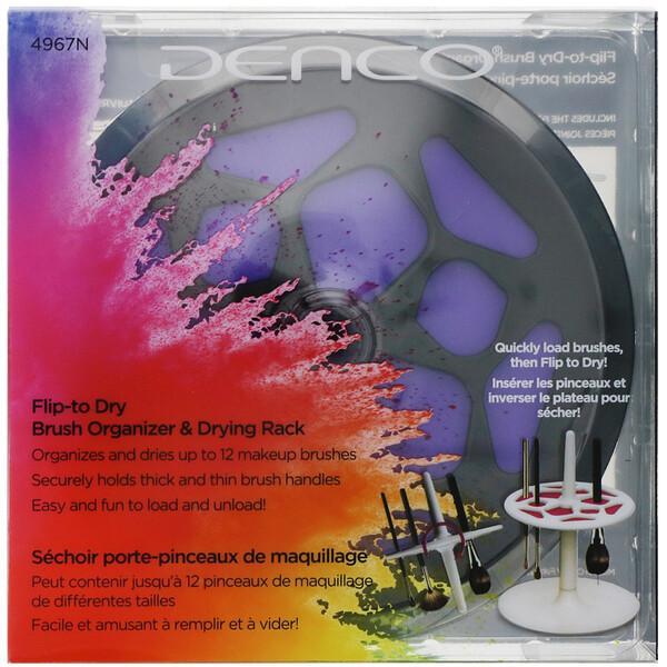 Denco, Flip to Dry, подставка для хранения и сушки кистей, 1шт.