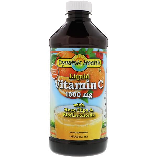 Жидкий витамин С, натуральные ароматизаторы со вкусом цитрусовых, 1000мг, 473мл (16жидк.унций)
