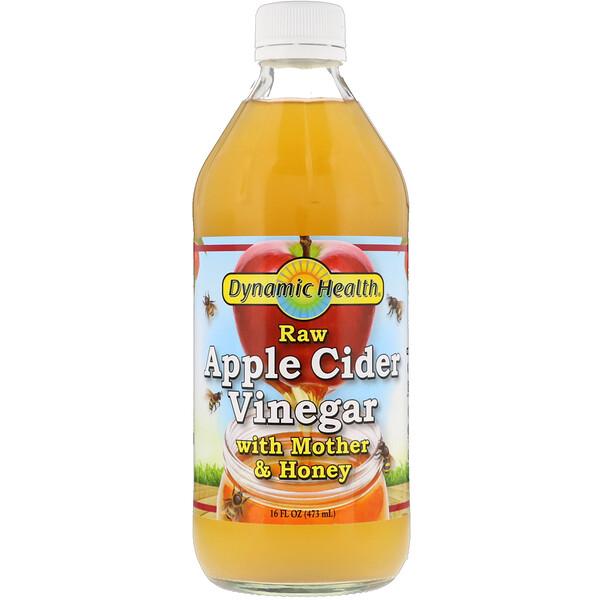 Непастеризованный органический яблочный уксус с уксусной маткой и медом, 473 мл (16 fl oz)