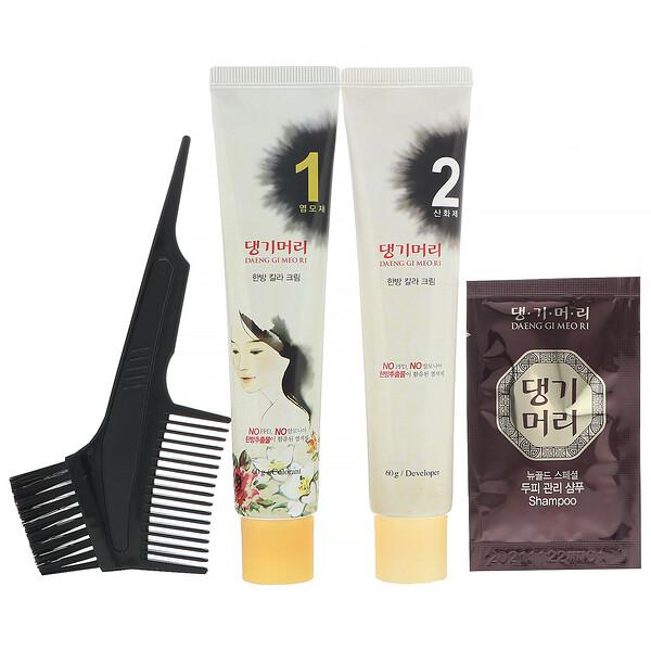 Daeng Gi Meo Ri, краска для волос с лекарственными травами, оттенок черный, 1набор
