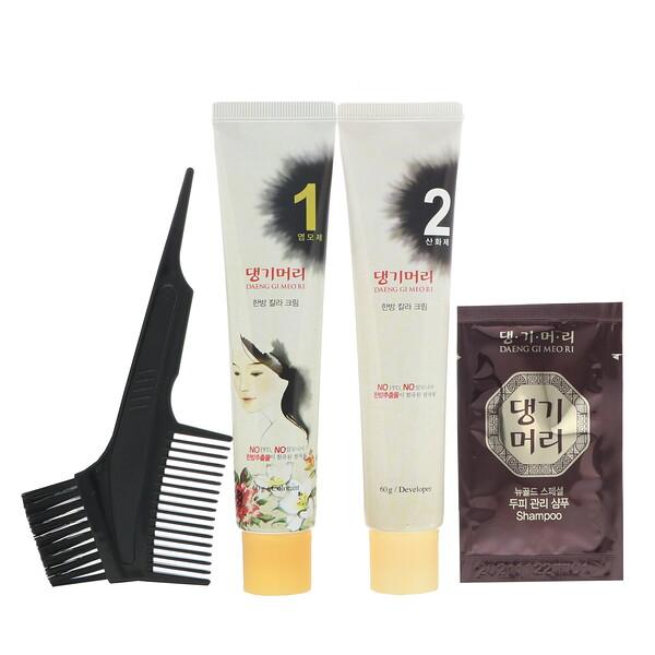 Daeng Gi Meo Ri, краска для волос с лекарственными травами, шатен, 1 набор