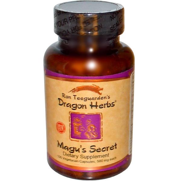 Dragon Herbs, Magu's Secret, 500 мг, 100 растительных капсул