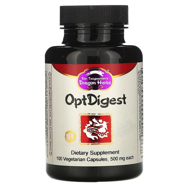 OptDigest, 500 mg, 100 Vegetarian Capsules