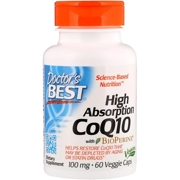 Легкоусвояемый CoQ10 с BioPerine, 100мг, 60 растительных капсул