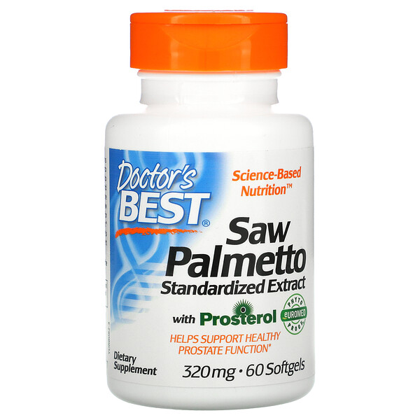 Doctor's Best, Saw Palmetto, Standardized Extract with Prosterol, 320 mg, 60 Softgels
