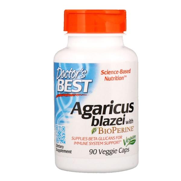 Doctor's Best, Agaricus Blazei with Bioperine, 90 Veggie Caps (Discontinued Item)