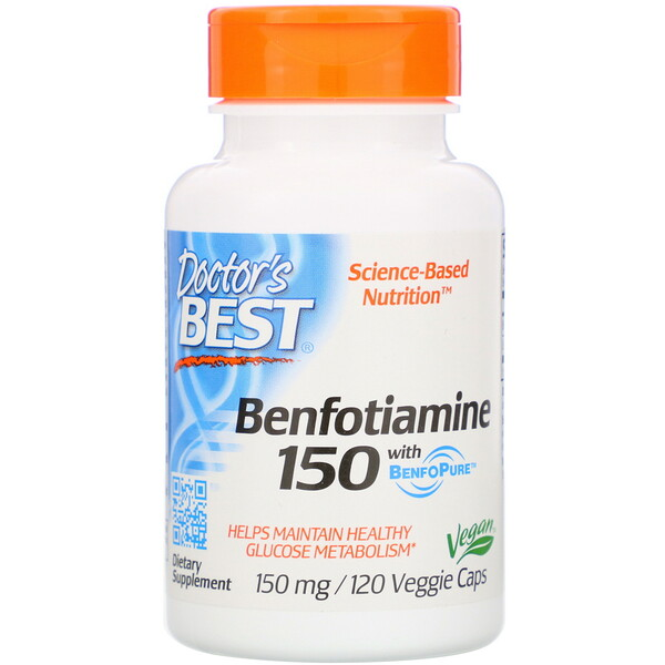 бенфотиамин с BenfoPure, 150 мг, 120 вегетарианских капсул