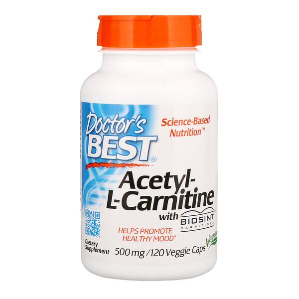 ацетил-L-карнитин с карнитинами Biosint, 500 мг, 120 растительных капсул