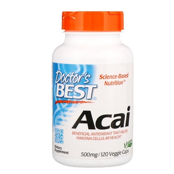 Doctor's Best, Асаи, 500 мг, 120 капсул в растительной оболочке (Discontinued Item)
