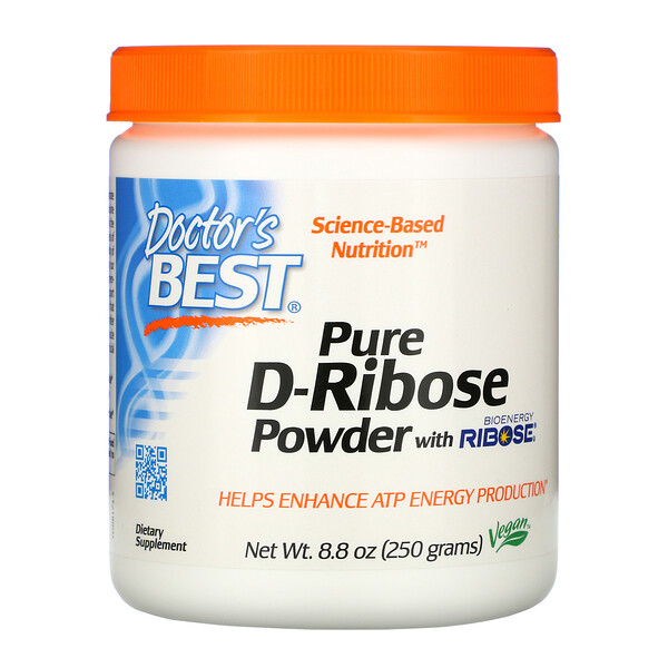 Doctor's Best, Чистая D-рибоза в порошке - биоэнергетическая рибоза, 250 г