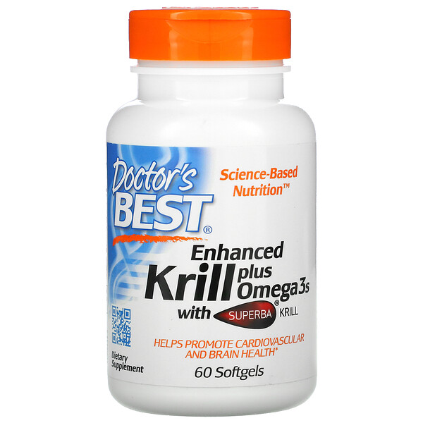 Enhanced Krill Plus Omega3s with Superba Krill, 60 гелевых капсул
