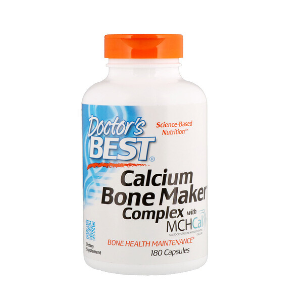 Doctor's Best, Calcium Bone Maker Complex с MCHCal, 180 капсул