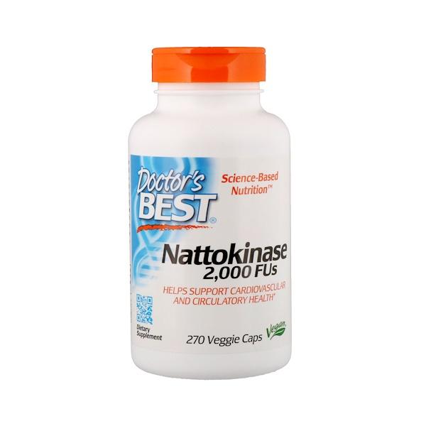 Наттокиназа, 2000FU, 270растительных капсул