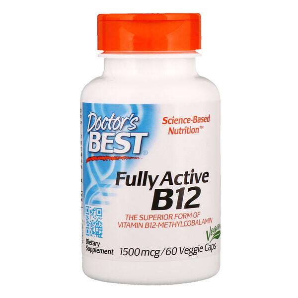 Best, Активный витамин B12, 1500 мкг, 60 растительных капсул
