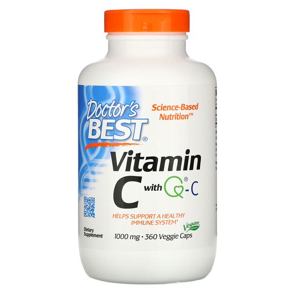 Doctor's Best, Витамин C с Quali-C, 1000 мг, 360 вегетарианских капсул