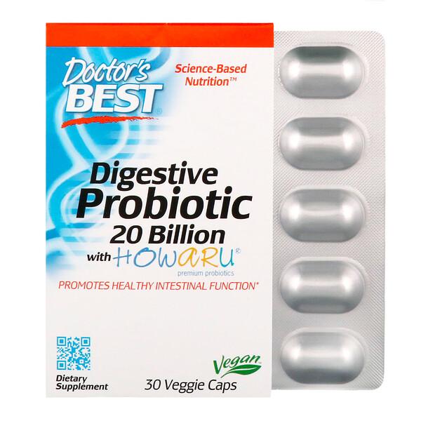 Пищеварительный пробиотик с Howaru, 20 млрд КОЕ, 30 растительных капсул