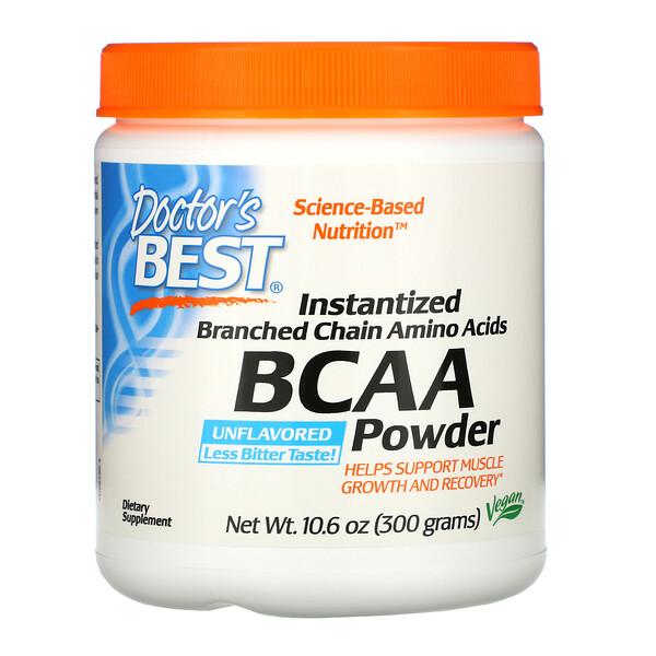 Doctor's Best, Аминокислота BCAA в виде растворимого порошка, 300 г