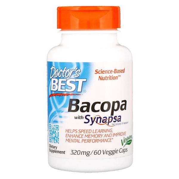 Бакопа с Synapsa, 320 мг, 60 растительных капсул