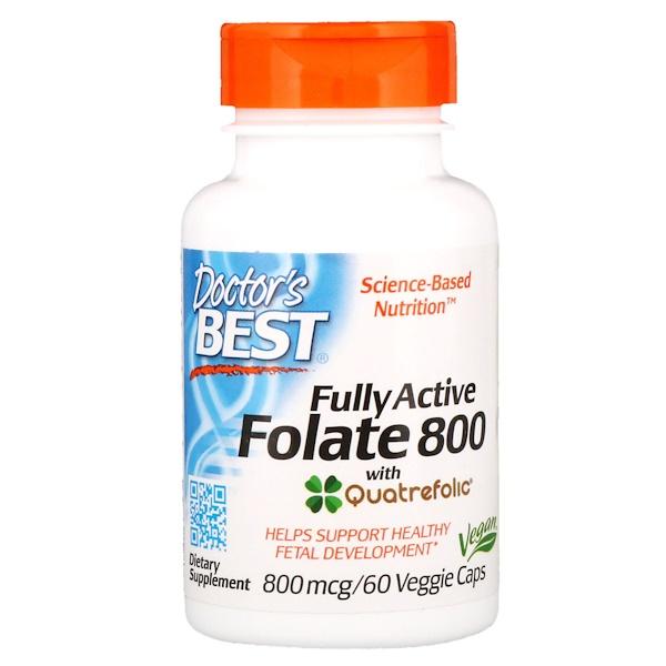Активный фолат 800, 800 мкг, 60 капсул в растительной оболочке