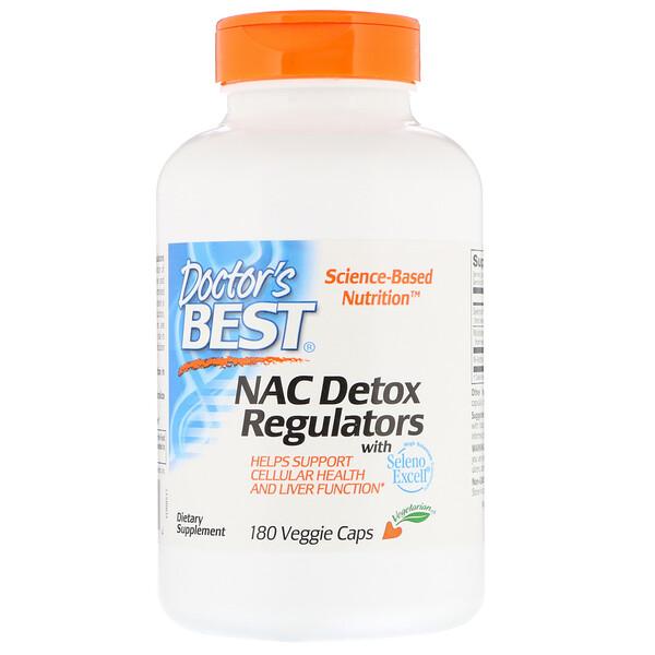 Doctor's Best, N-ацетилцистеин для регуляции процесса детоксикации, 180растительных капсул