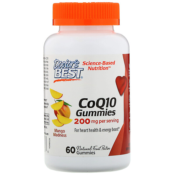 Жевательный мармелад с коэнзимомQ10 C, со вкусом манго, 200мг, 60 жевательных таблеток