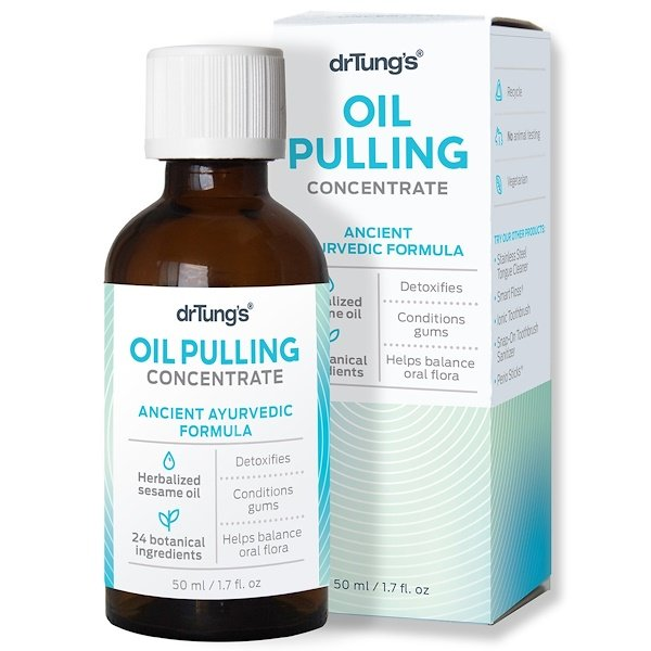 Dr. Tung's, Oil Pulling Concentrate, Ancient Ayurvedic Formula, 50 ml (1.7 fl oz) (Discontinued Item)
