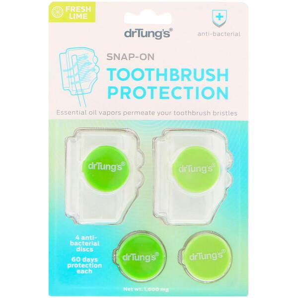защелкивающийся протектор зубной щетки, со вкусом свежего лайма, 1600 мг