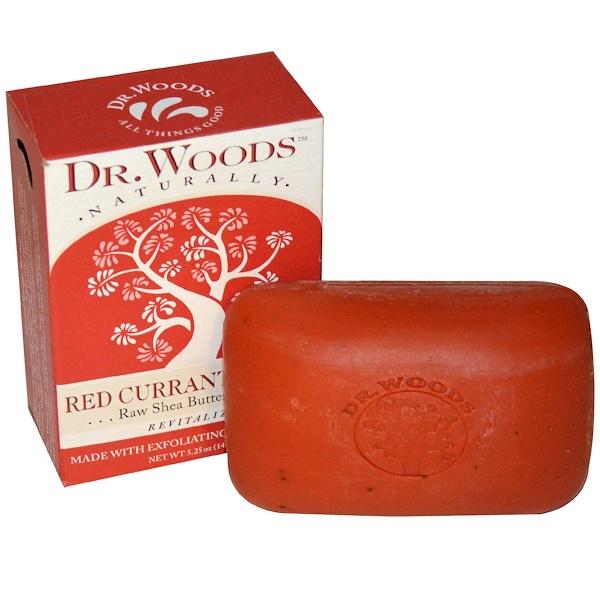 Dr. Woods, Мыло с сырым маслом ши, красная смородина гвоздика, 5,25 унций (149 г) (Discontinued Item)
