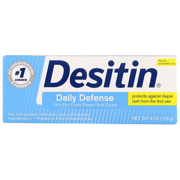 Desitin, Крем от пеленочного дерматита, «Ежедневная защита», 113г (4унции)