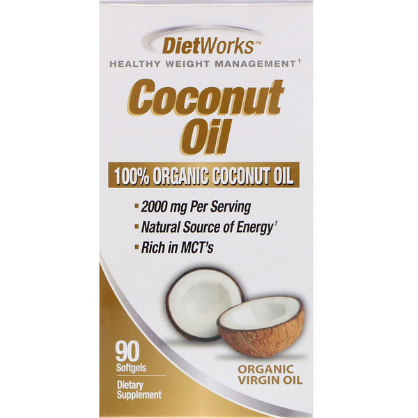 DietWorks, Coconut Oil, 90 Softgels (Discontinued Item)
