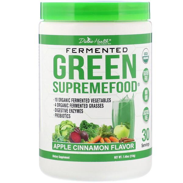 Divine Health, Fermented Green Supremefood, Apple Cinnamon, 7.40 oz (210 g) (Discontinued Item)