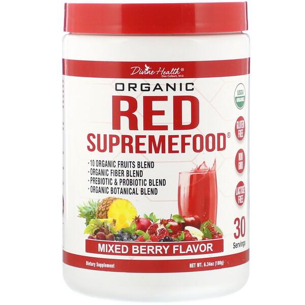 Organic Red SupremeFood, Mixed Berry, 6.34 oz (180 g)