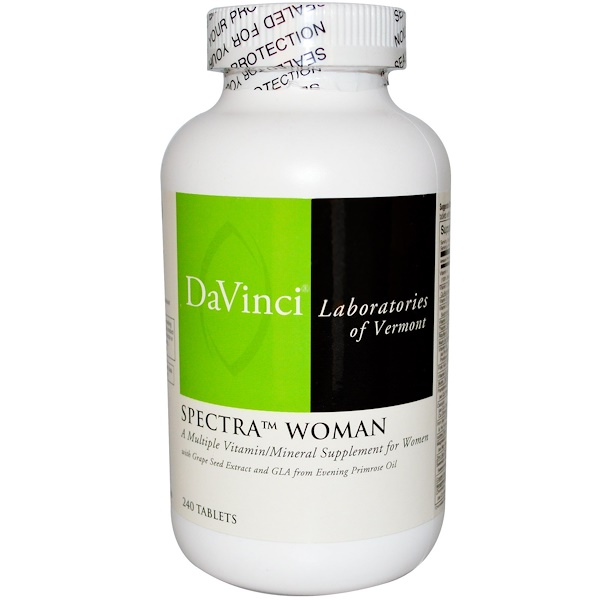 DaVinci Laboratories of Vermont, Spectra Woman, Multiple Vitamin/Mineral, 240 Tablets (Discontinued Item)