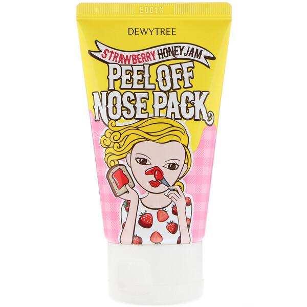 Маска-пилинг для носа, 1 шт, клубнично-медовое варенье, 70 мл