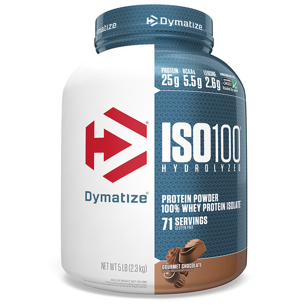 Гидролизированный ISO 100 , 100% -ный сывороточный изолят ,протеина, гурманский шоколад, 5 фунтов (2,3 кг)
